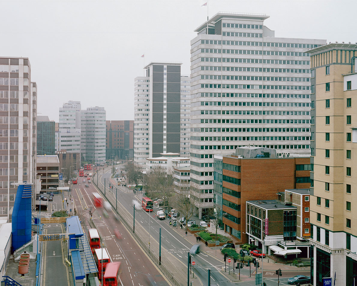 'Panoramic view of Croydon' from the series 'White City', Wellesley Rd, Croydon (2007) © Ignacio Acosta
