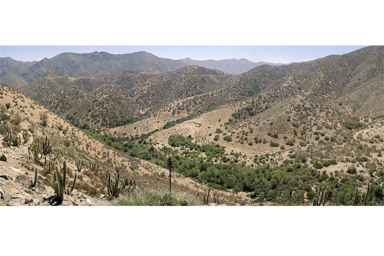 Panoramic view of El Mauro tailings dam. Los Vilos commune, Chile, 2014