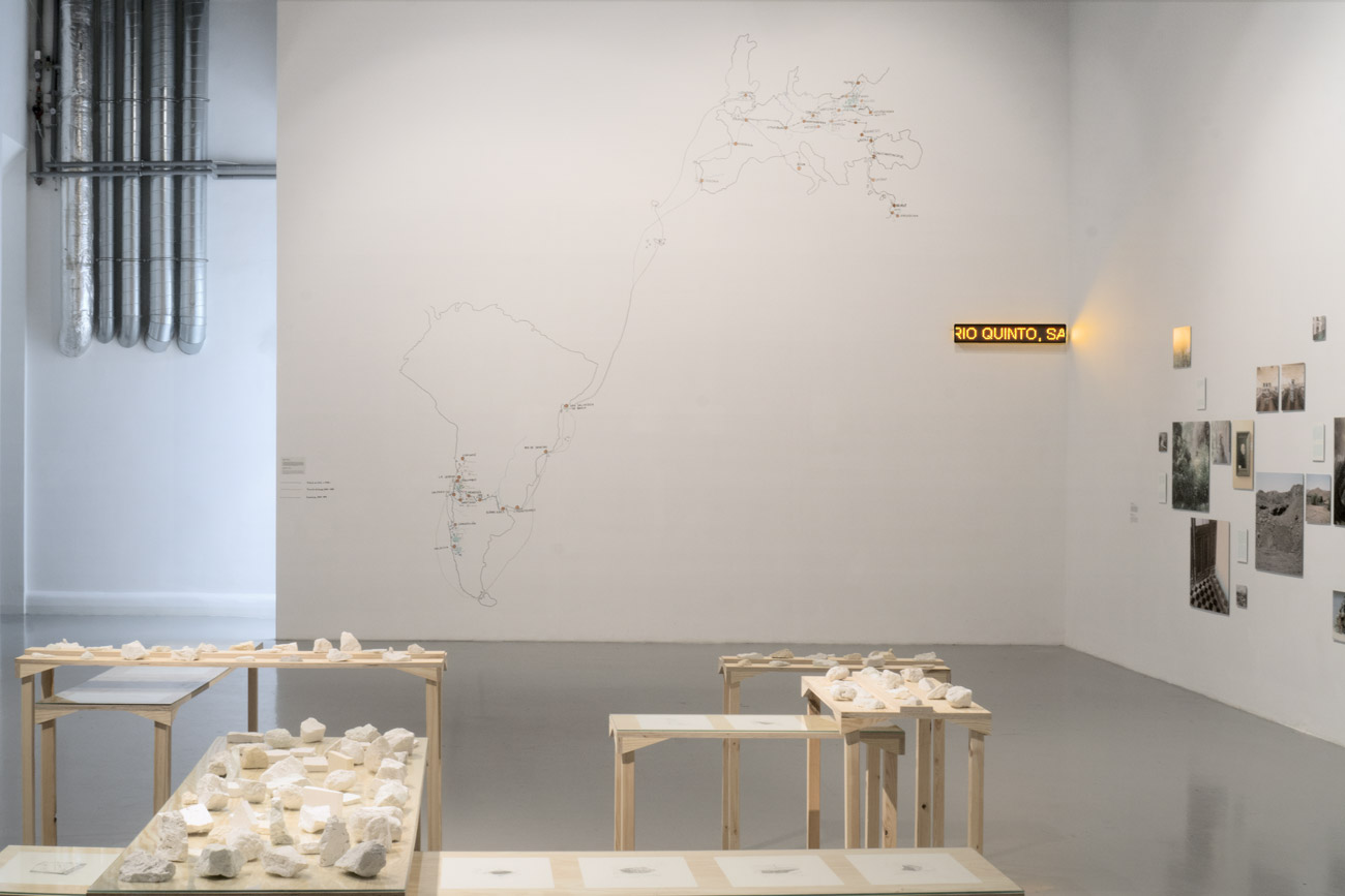 Installation view. Mapping Domeyko, Gdansk, 2017