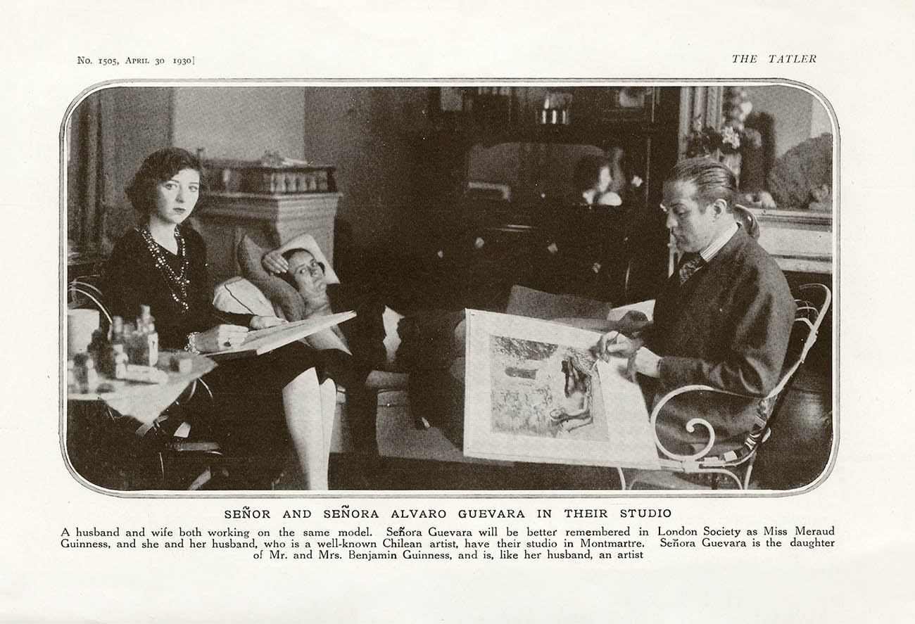 Señor and Señora Álvaro Guevara in their studio.Tatler Magazine, 30.04.1930.