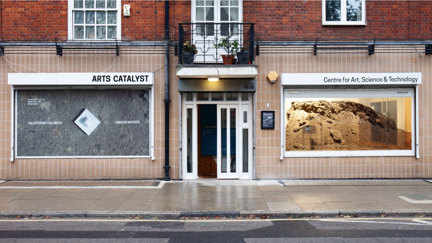 Installation view. Tales from the Crust, Arts Catalyst, London, 2019