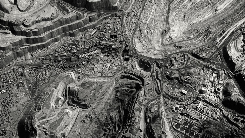 Satellite views of Chuquicamata corporate mining town. Atacama Desert, Chile, c. 2011