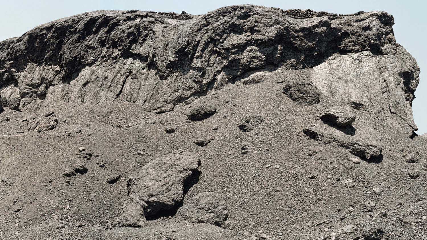 Slag heap from Panulcillo mine, now closed. Ovalle commune, Chile, 2014