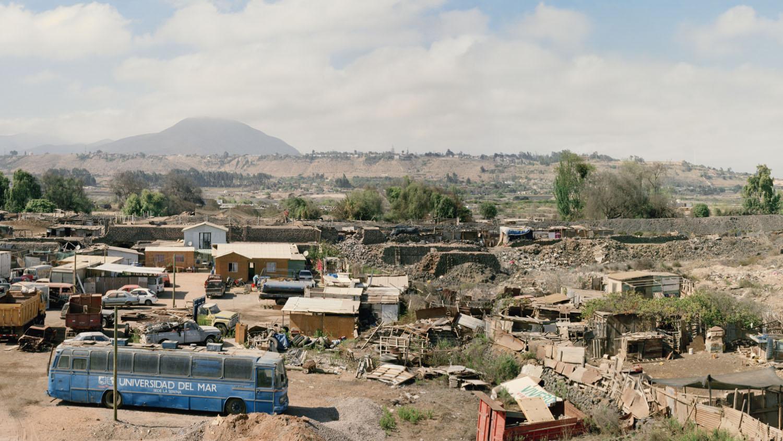 Former copper smelting site. Las Compañías, La Serena commune, Chile 2014