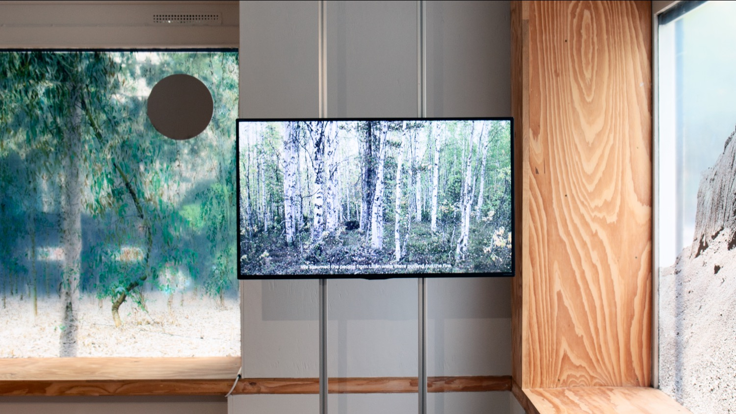 Forest&Fires. In collaboration with Liz-Marie Nilsen, 2019. 05:23 min Interview with Palle Erixon Turberget, Jåhkåmåhkke, Swedish Sábme, September 2018