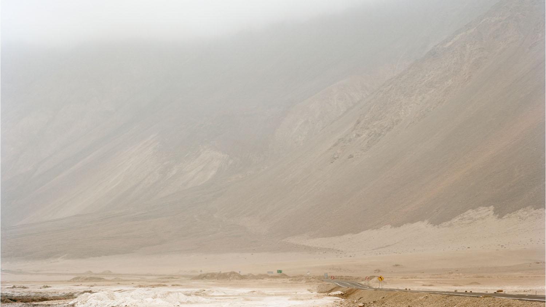 Sulphuric acid route. Route 1, Atacama Desert, Chile, 2012