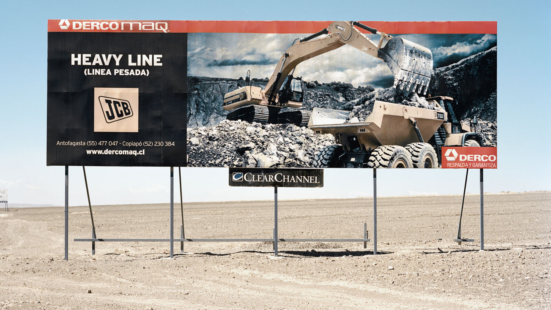 Advertising billboard. Route 25, Calama, Atacama Desert, Chile, 2012