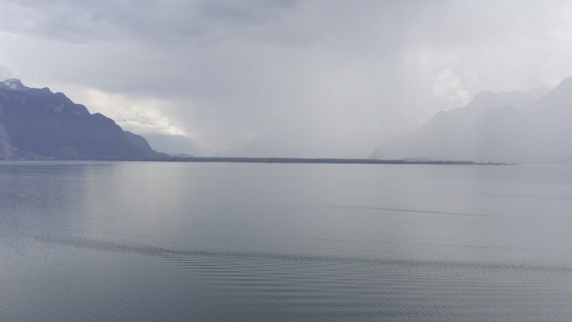 View of the Lac Léman, La Becque Résidence d'artistes, Canton of Vaud, Switzerland, 2020