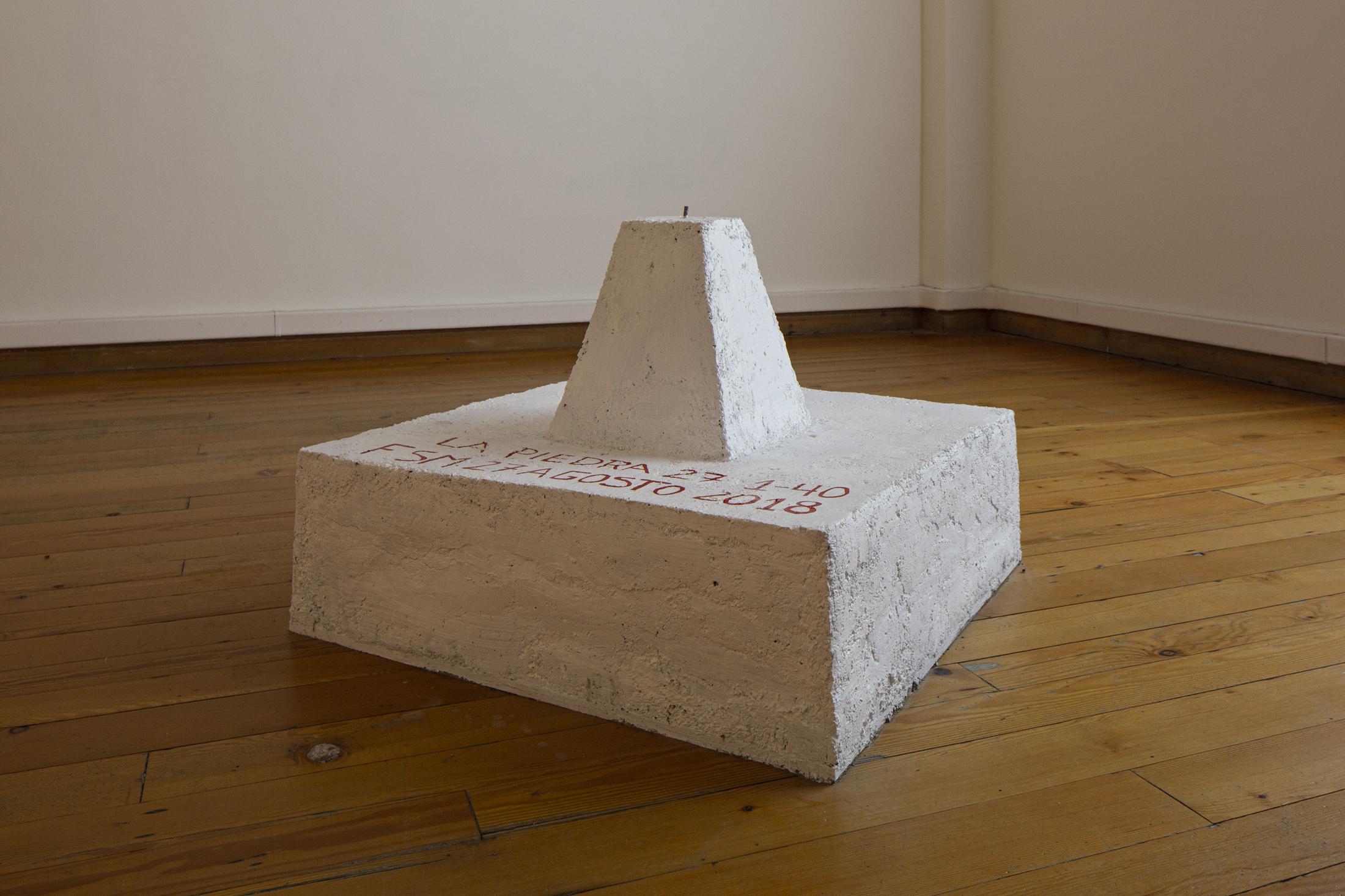 Installation view. Pedimento Minero, Bienal de Artes Mediales de Santiago, Museo de Arte Contemporaneo MAC, Santiago